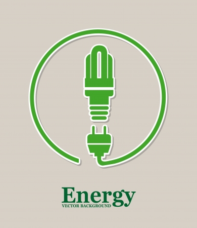 energy design over gray background Stock Vector - 21030226