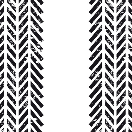 tire tracks over white background  Vector
