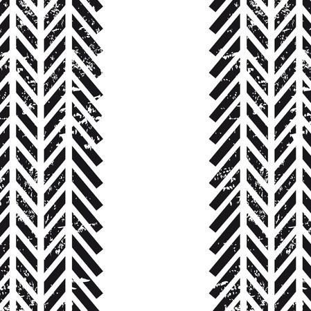 tracce di pneumatici su sfondo bianco
