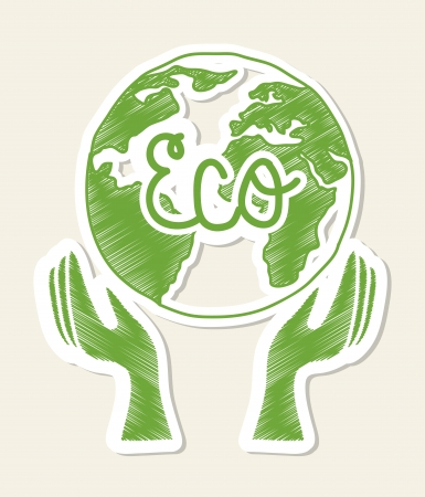 eco design over white background  Vector