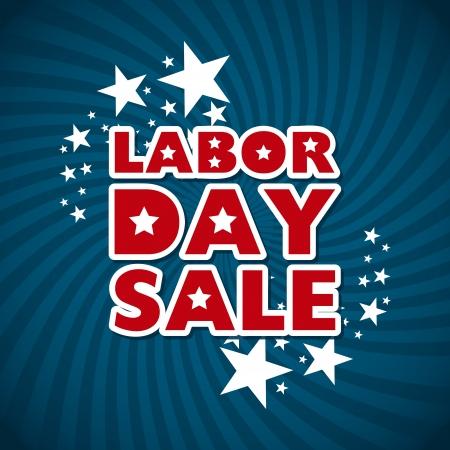 labor day sale over blue background  Illustration