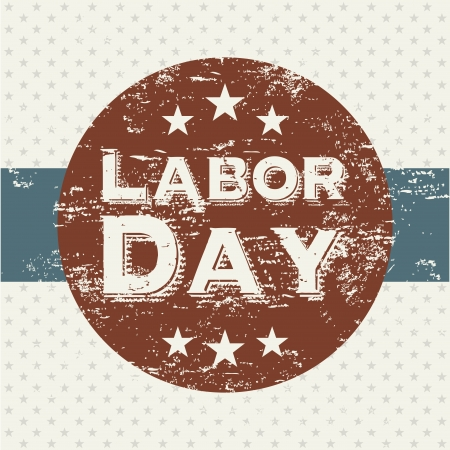 labor day over dotted background