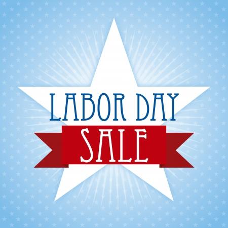 labor day over blue background  Illustration