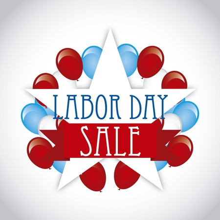 labor day over gray background
