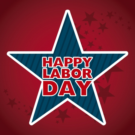 labor day design over red background