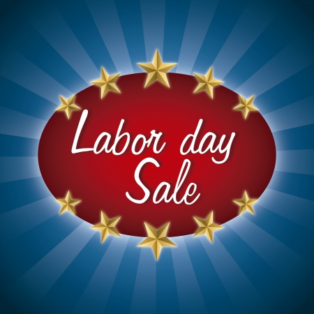 labor day over blue background  Vector