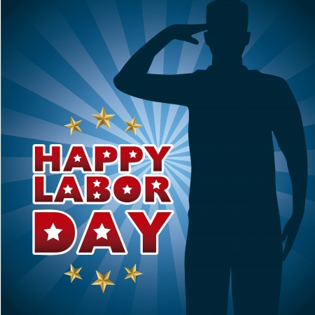 happy labor day over blue background  Vector