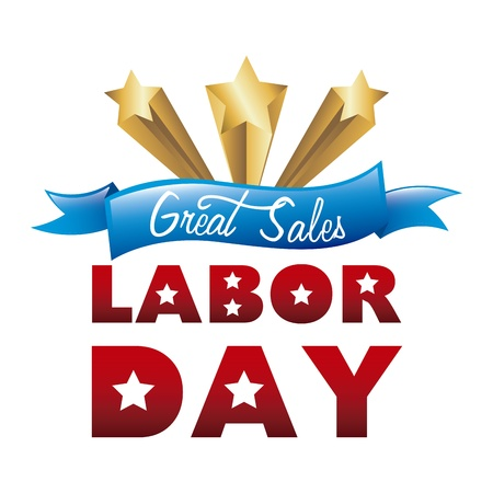 labor day over white background  Vector