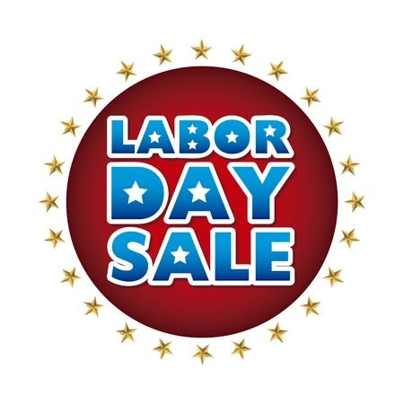 labor market: labor day sale over white background