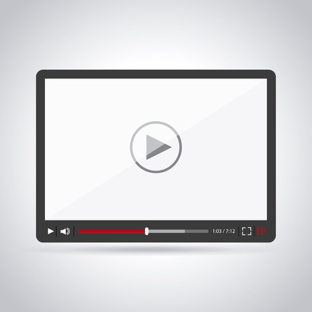hd video: tablet design over gray background