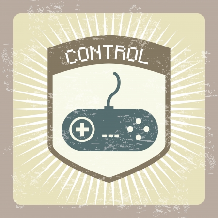 control design over vintage background Stock Vector - 21235992