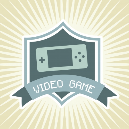 video game over vintage background  Stock Vector - 21235994