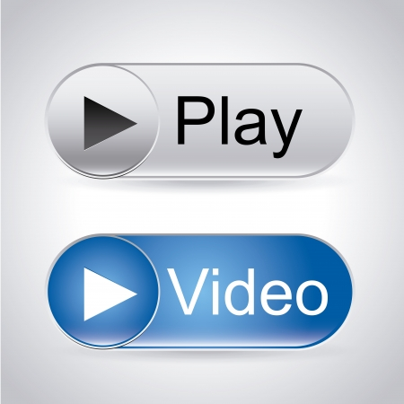 player buttons: video labels over gray background
