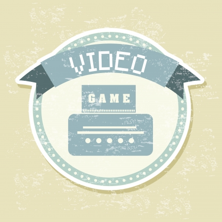 video game over vintage background Stock Vector - 21236020