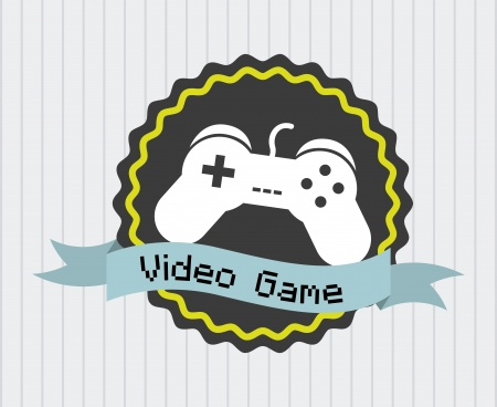 video game design over vintage background  Vector
