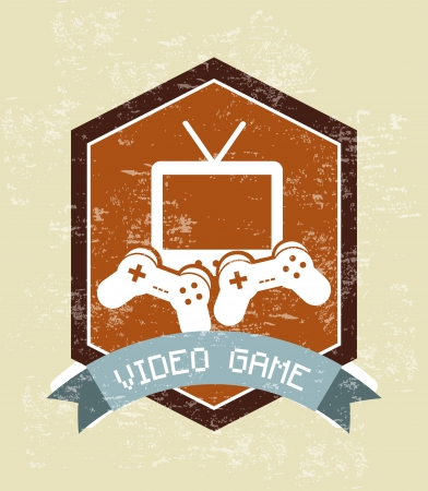 video game design over vintage background Stock Vector - 21236047