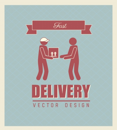 fast delivery: fast delivery over blue background