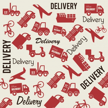 delivery skin over white background Vector