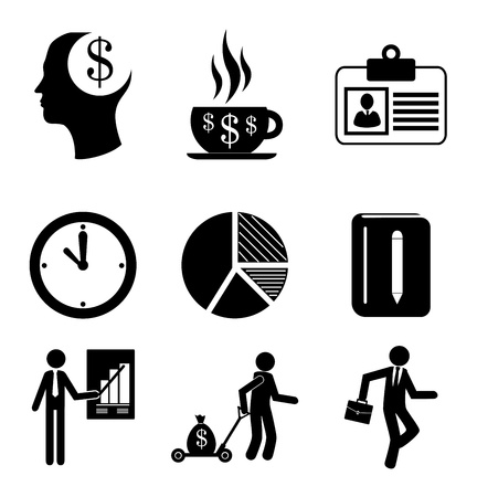 finances icons over white background  Vector