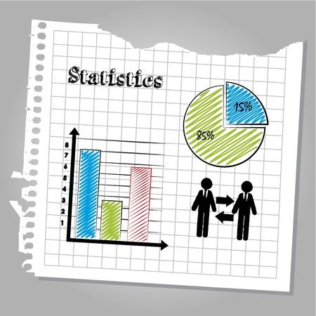 determinants: statistics design over leaf book background  Illustration