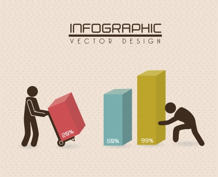 infographics design over dotted background  Vector
