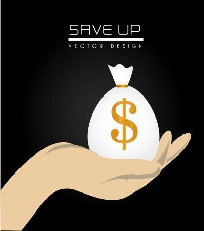 sparen Sie bis Design über schwarzem Hintergrund