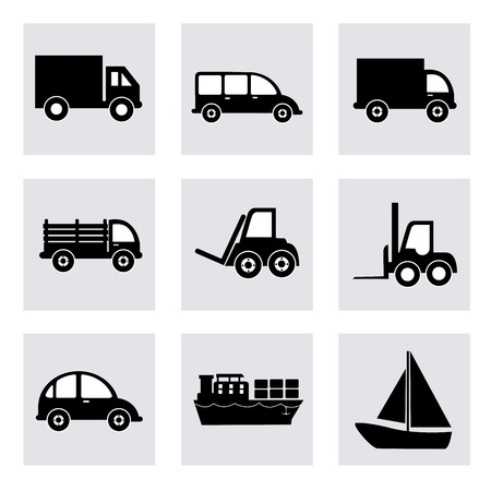 transport icons over white background  Vector