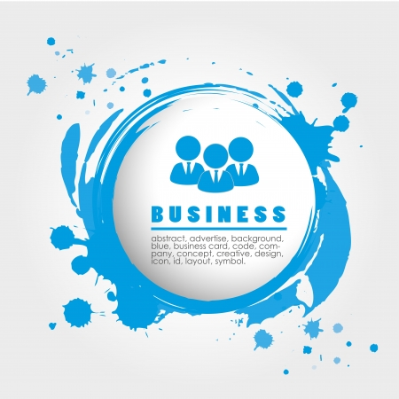 business design over gray background