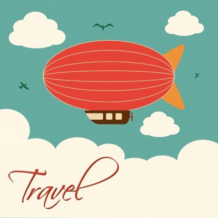 balloon animals: travel design  over sky background
