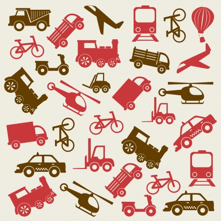 travel icons over white background  Vector