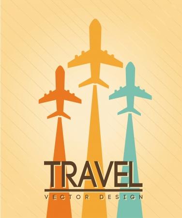 diseño de viajes sobre fondo crema