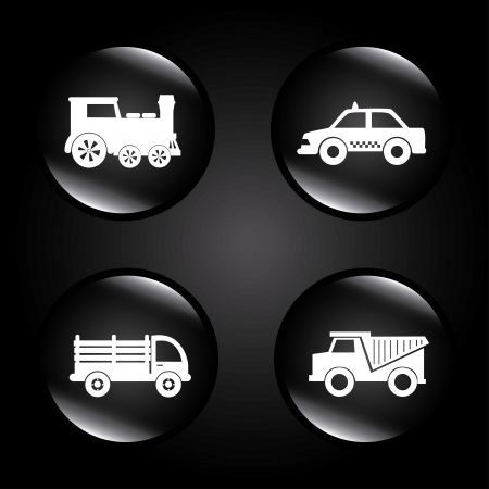 transport bubbles over black background Stock Vector - 21236408