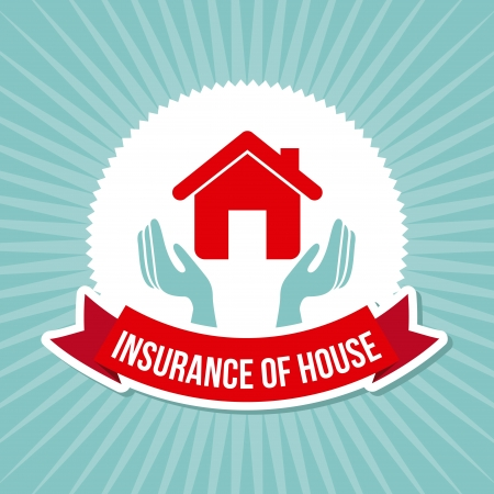 insurance of house over grunge background Stock Vector - 21287102