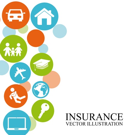 insurance protection: insurance design over white background  Illustration