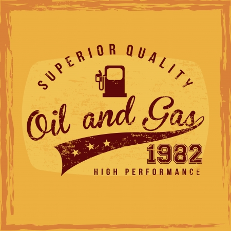 fuel superior quality over orange background  Vector