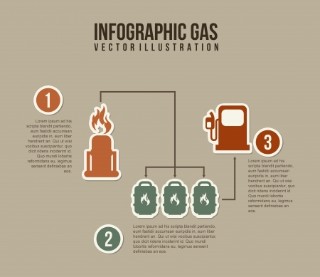 infographics fuel over gray background  Vector