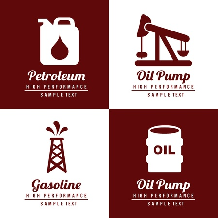 fossil fuel: fuel icons fuel icons over white and brown background
