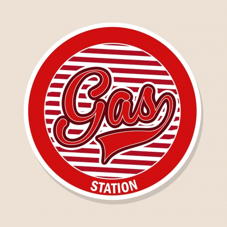 gas station over pink background  Vector