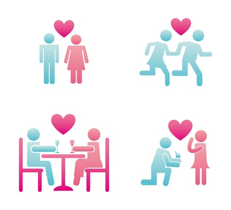 couple design over white background  Vector