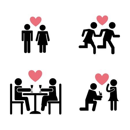 liebe: Paar Design auf weißem Hintergrund Illustration