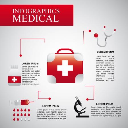 Infographie médicale sur fond gris Banque d'images - 21287316