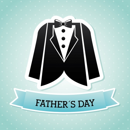 fathers day over blue background  Stock Vector - 21287339