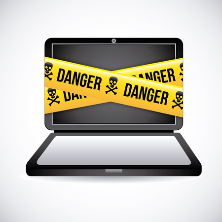 danger design over gray background  Stock Vector - 21287348