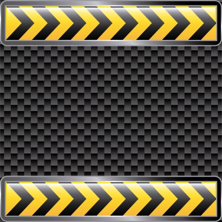 under construction ribbons over black background  Vector