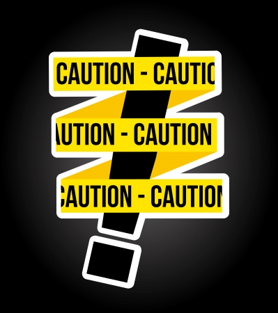 caution design over black background Stock Vector - 21287364