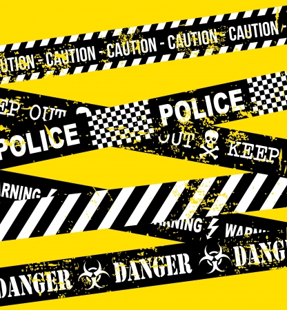 caution tape over yellow background Stock Vector - 21287349
