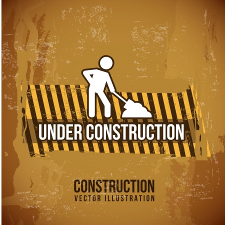 under construction design over vintage background  Vector