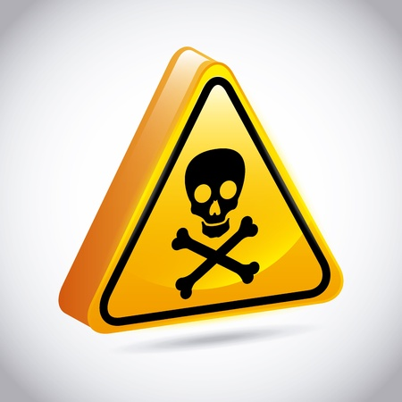 warning design over gray background  Stock Vector - 21287355