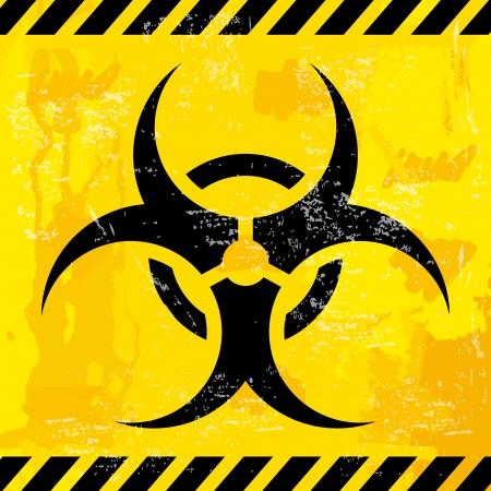 bio hazard design over yellow background  Stock Vector - 21287358