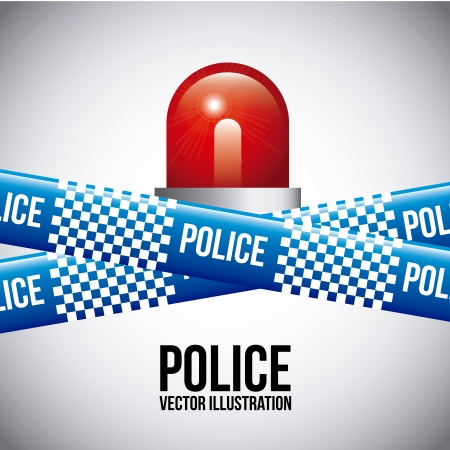police tapes over gray background  Vector